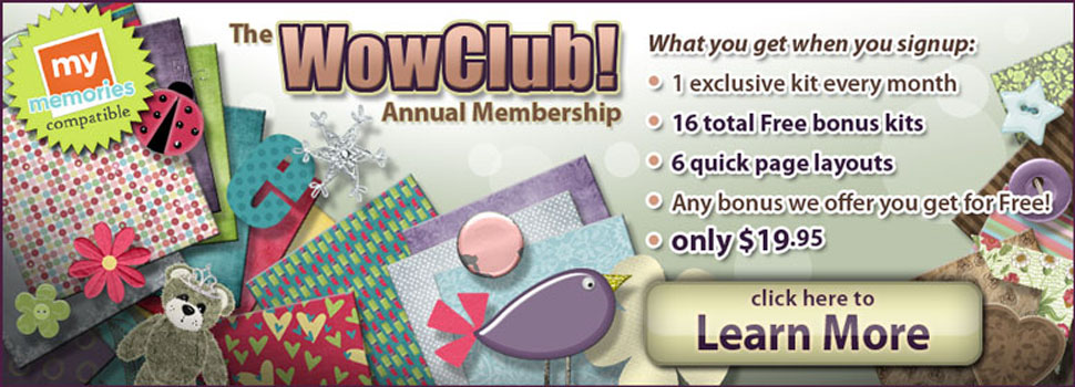 An annual membership at ScrapWow is an amazing digital scrapbooking value