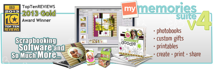 MyMemories Suite version 4 digital scrapbooking software now available