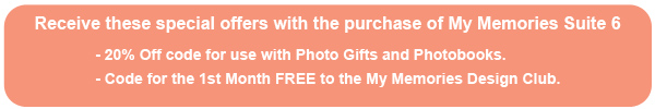 Special Offers with My Memories Suite Purchase