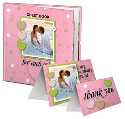 Print wedding invitations, thank you cards, guest books, and more with MyMemories Wedding Studio