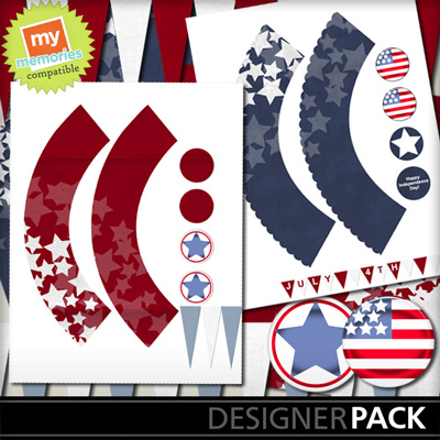Printable 4th Of July Cupcake Wrappers And Toppers